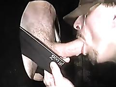 Mature guy makes a big dick cum