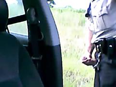 Amateur Police Officer Wanks on Dashcam