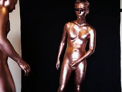 bronze body paint sex