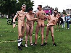 Guys posing naked in Amsterdam