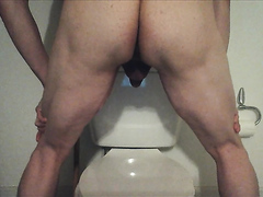 shitting on toilet - video 2