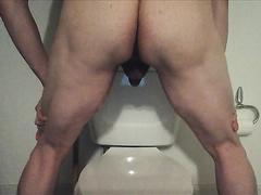 shitting on toilet - video 2