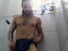 Grantflip Showers in Blue Boxer Briefs