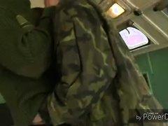 Army kissing boys