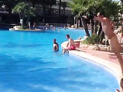 TAKE A DIVE NAKED AT THE POOL