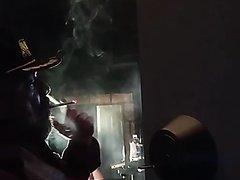 door open smoking