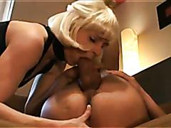 Cougar having fun with a massive cock