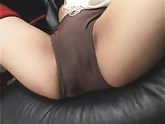 Submissive Japanese slut squirting really hard