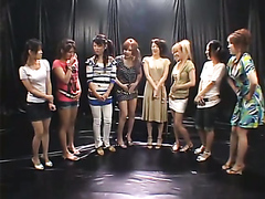 Japanese girls playing with each other