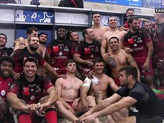 FRENCH RUGGER CELEBRATE VICTORY
