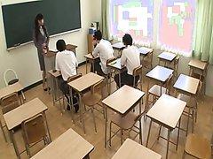 Beautiful Japanese Teacher Pees Herself