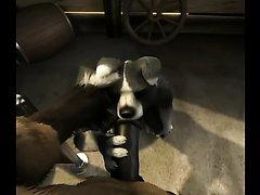H0r3e Animation - Dog serving Horse