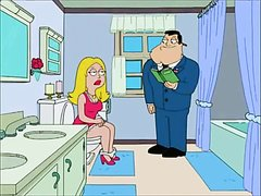 American Dad Francine on the toilet
