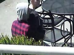 Amateur couple having sex in public