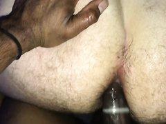 Black cock fucking dirty white ass