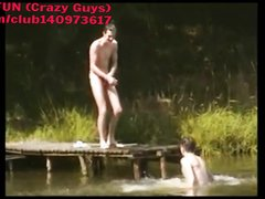 NUDIST BOYS AT THE LAKE
