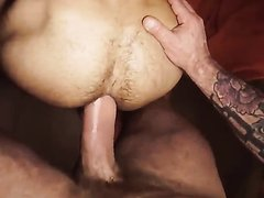 tatted big dicked stud fucks hairy ass