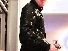 shiny jacket chav smoker
