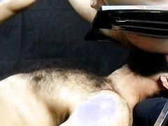 gay slave, lebanese hairy beared fag eaitng my dirty ass