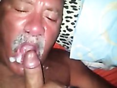 Cum in daddy's mouth