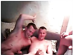 German friends having a wank