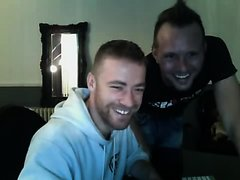 German guy convinces his friend to have some fun on cam