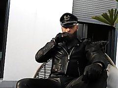 fully geared outdoor leather cigar smoke