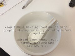 vlog #182 a morning routine of mine - pooping during an early morning befor
