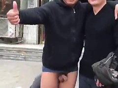 Guy depantsed by mate