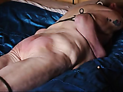 Whipping a helpless chubby lady