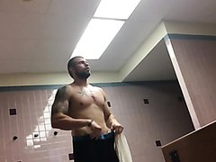 Buff Stud Changing in the Locker Room