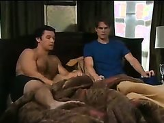 Muscle God Soap Actor Barefoot on the bed
