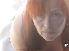 German lady sucking dicks outdoor
