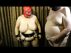 Hot BDSM with a fat slave