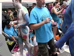 HOT BODY PAINTING IN THE CITY