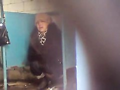 Russian women caught pooping in the public toilet - part 2
