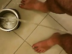 Piss soaked feet drink for slave