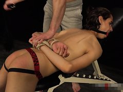 tied twink spanked whipped clothespinned stroked