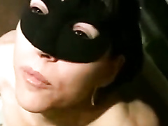 [Piss drinking] Masked wife