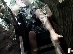 toes cum fun in a tree