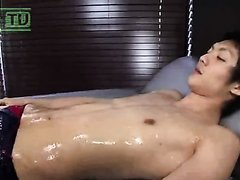 Asian boys speedo massage