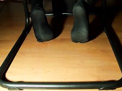 male feet - black socks - I