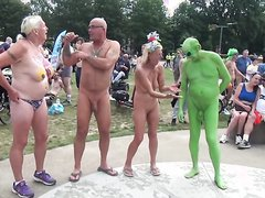 WORLD NAKED BIKE RIDE OUTSIDE
