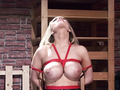 Blonde Slave Gagged And Tied Up