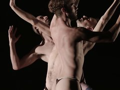 ARTISTIC PERFORMANCE WITH NAKED MEN