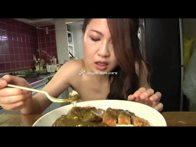 Scat food girl