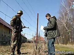 RUSSIAN  SEXY  SOLDIER  FUCKS A  FAG !