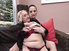 Kinky brunette and a blonde granny