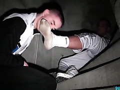 STINKY SNEAKERS FOOT SCALLY FUCKING
