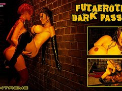 Big tits futa sex in the dark passage
